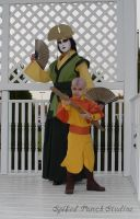 Avatars Kyoshi and Aang by prismkitty