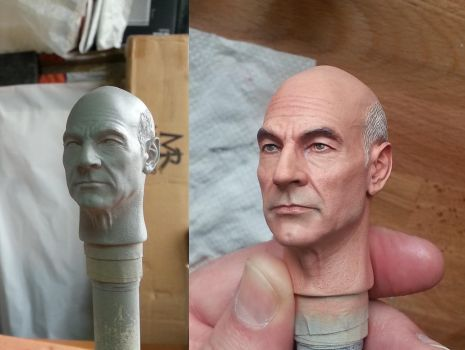 Captain Picard 1/6 Paint Master by DarrenCarnall