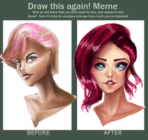 Before After Meme Painting by Eradollz