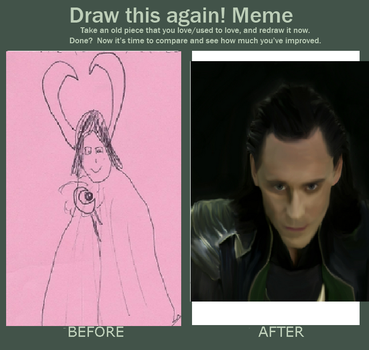 Draw This Again Meme: Loki by Flying-With-The-Owls