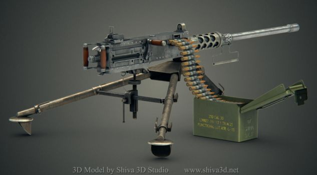 Machine Gun M2 Browning by Shiva3d