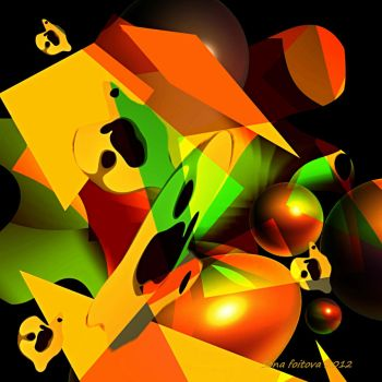 nuts-cubism-abstract by sonafoitova