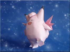 Clefable Papercraft by Skele-kitty