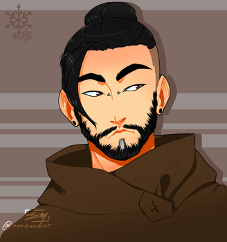 OW: Excuse me Hanzo by samdrawsalot
