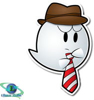 Request: Hat and Tie Boo by ShadowLifeman