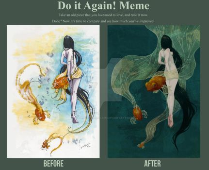 Draw it Again - Swimming in Memories by JennaleeAuclair