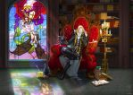 Castlevania Alucard - Respite from Endless Days by ghostfire