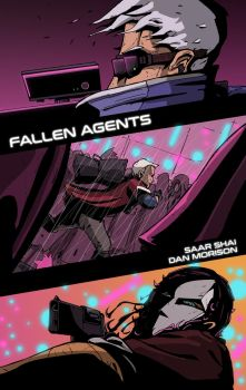 Fallen Agents Comic Cover by DarkMechanic
