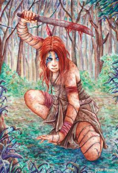 Lisipe ( the last woman warrior) by FerPeralta