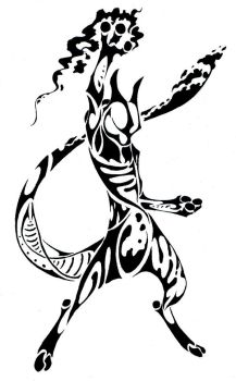 Mewtwo Tribal COMMISSION by Canyx
