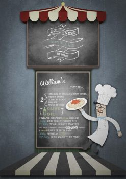 William's bolognese recipe illustration by AguedaMarcia