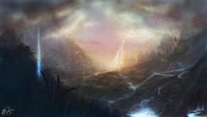 Earth in 2614 (speed painting) by AshStraker