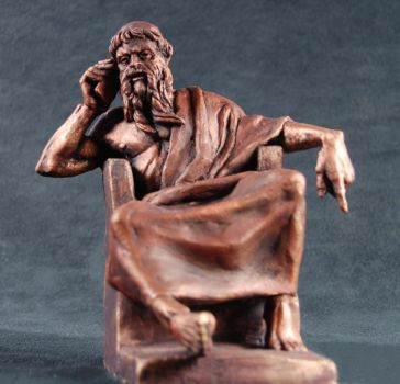 Zeus' iPhone- bronze by AdamReederSculptor