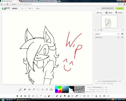 Wip- Natalie the hedgehog by AnaSerraTails