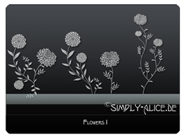 Flower Brushes by crazy-alice