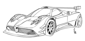Lamborghini Sesto Elemento Drawing Coloring Coloring Pages