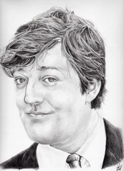 Portrait of Stephen Fry by kayecreations