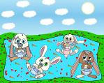 Baby Bunny Friends by SchnuffelKuschel