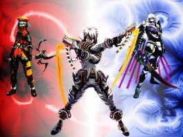 Haseo and the Corrupted AIs by DualSidedKeybladerX