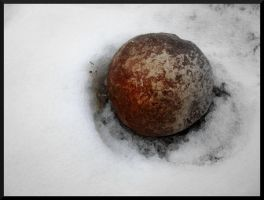 stone in the snow by bgmsyn