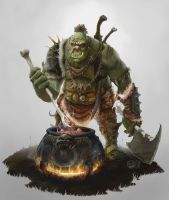 Orc Cook by DamonWestenhofer