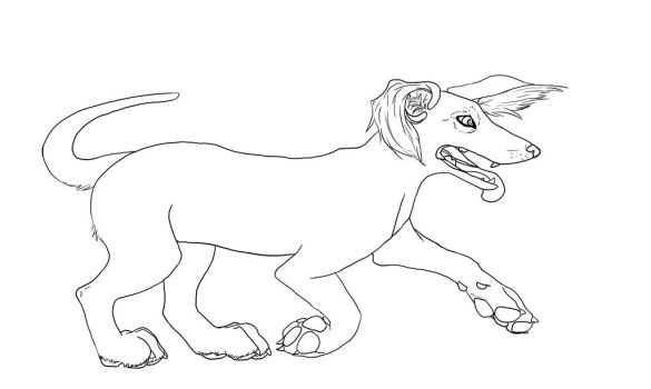 Lil Pup Lineart by girlonwantedposters