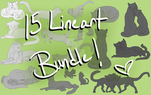 Warrior Cats - 15 Lineart Bundle by LindsayPrower