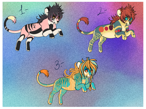 .Fantasy Felines [AUCTION] CLOSED. by Gii-Adoptables