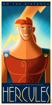 Hercules Art Deco poster by DavidGFerrero