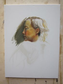 unfinished portrait oil painting by etodorut