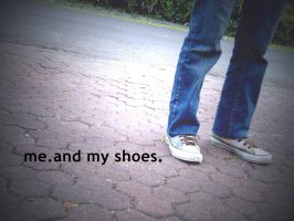 me.and my shoes. by helloraadio