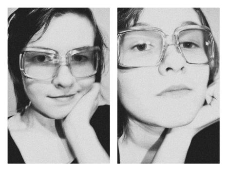 My face. Glasses. by Sue-Brown
