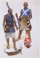 african warriors by byzantinum