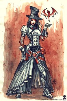 Sketch 073 Steampunk Zatanna by MAROK-ART