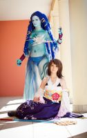 FFX: Yuna and Shiva by e-l-y-n-n