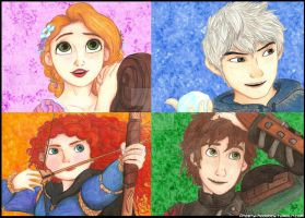 Big Four Collage by Laven96