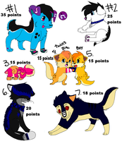 more POINT Adoptablesss by SpunkyAdopts