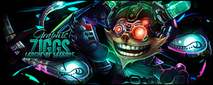 Ziggs - Mad Scientist by RedClownGFX