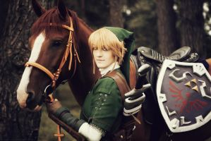 LoZ - Epona and Link by Semashke