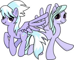 Cloudchaser and Flitter by CH33ZUS