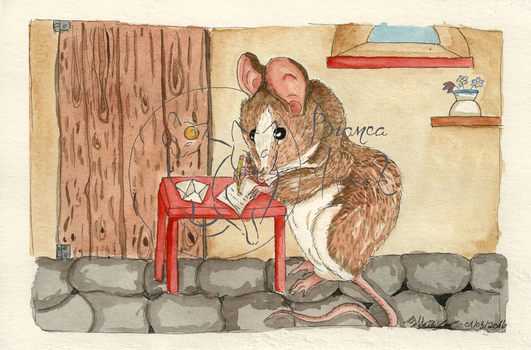 Mouse Writing a Letter by Majestic922