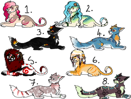 + Feline and Canine Adoptables 1 - 3 LEFT!!! + by Aisuruu-Adopts