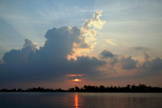 Sunset at the Lake by mikapi