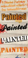 Painted Text Effects and Photoshop Actions by xgfxws