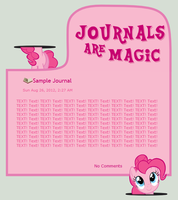 Journals Are Magic - Pinkie Pie by CassidyCreations