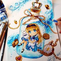 + Alice in the Bottle + by Naschi