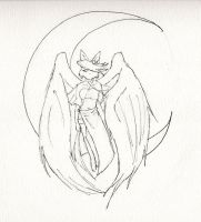 Asobi Angel of the Moon uncolored by TheArtisticPony