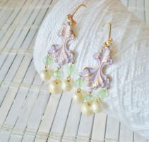 Playful Patina Earrings #1 by RetroRevivalBoutique