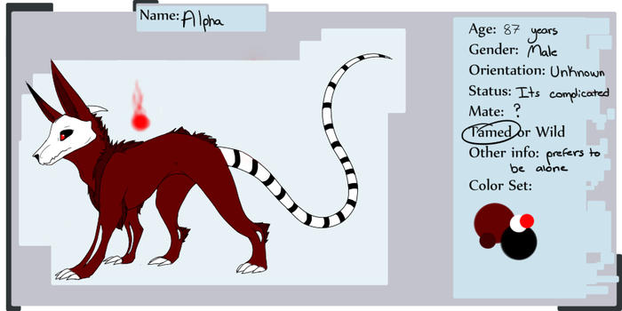 Alpha refrence sheet by Sirenet