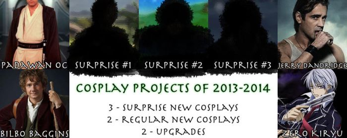 Cosplay Line Up for 2013-2014 by ScarafileProductions